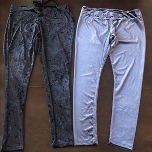 Hot kiss  2XL velvet leggings